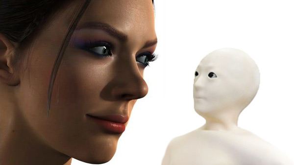 A staring contest in the Uncanny Valley